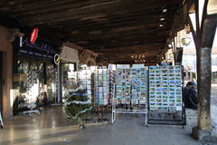 Turist shop in mirepoix Royalty Free Stock Images