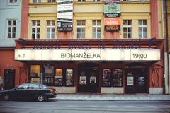 Turist- ställen, historiska gator i Prague Fotografering för Bildbyråer