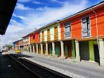 Turist- stad Alausi i det Chimborazo landskapet, Ecuador royaltyfri fotografi