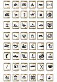 turist- symboler Royaltyfria Bilder