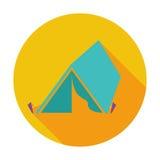 Turist- tent vektor illustrationer
