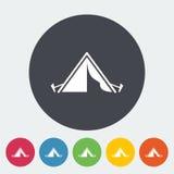 Turist- tent stock illustrationer