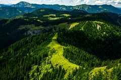 Turist trail in Austria, Gemeindealpe. Turist trail on the mountain ridge Royalty Free Stock Image