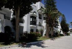 Turist- villa i det prestigefulla området av Sousse, Tunisien Royaltyfri Fotografi