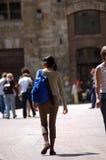Turista ambulante Fotografia Stock Libera da Diritti
