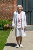 Turista anziano della donna Fotografie Stock