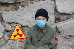 Turista atomico Fotografia Stock