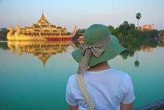 Turista in Birmania Immagine Stock Libera da Diritti