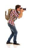 Turista che cattura le maschere Immagini Stock Libere da Diritti