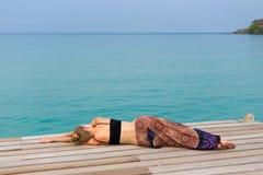 Turista che si rilassa su Koh Kood Fotografia Stock