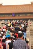 Turista chinês na Cidade Proibida China Fotografia de Stock