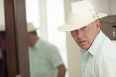 Turista com um chapéu foto de stock