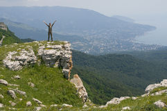 Turista in Crimea Fotografia Stock Libera da Diritti