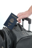 Turista da bagagem do passaporte Fotografia de Stock Royalty Free