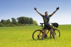 Turista da bicicleta Fotografia de Stock Royalty Free
