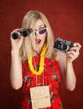 Turista dado una sacudida eléctrica Fotografía de archivo libre de regalías