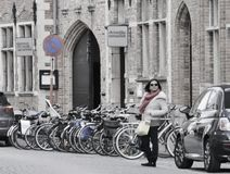 Turista de Brujas Imagenes de archivo