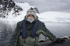 Turista de la aventura - la Antártida Imagenes de archivo