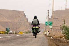 Turista de la bicicleta Imagen de archivo libre de regalías