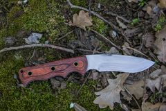Turista de la caza del cuchillo Foto de archivo