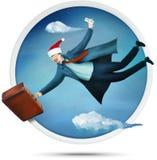 Turista de Santa do vôo ilustração royalty free