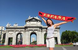 Turista de Spain - de Madrid fotografia de stock royalty free