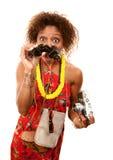 Turista del African-American immagini stock