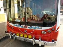 Turista del bus Fotografie Stock Libere da Diritti