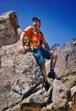 Turista del hombre joven Foto de archivo libre de regalías