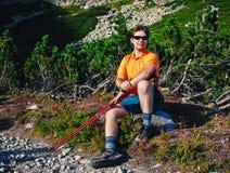 Turista del hombre joven Fotos de archivo