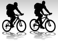 Turista della bicicletta royalty illustrazione gratis