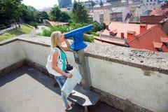 Turista della donna Fotografia Stock