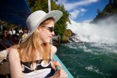 Turista della giovane donna Fotografia Stock