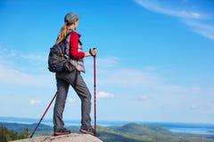 Turista della giovane donna Immagini Stock Libere da Diritti
