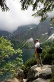 Turista della montagna Fotografia Stock Libera da Diritti