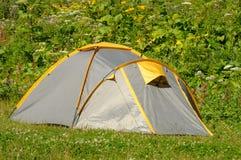 turista della tenda Fotografia Stock