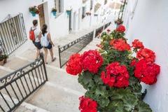 Turista delle coppie a Mijas Fotografia Stock Libera da Diritti