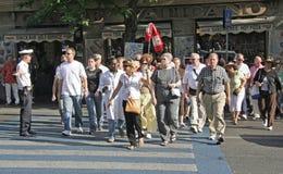 Turista di Roma, Italia Fotografie Stock