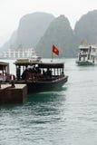 Turista di trasferimento delle piccole barche Fotografia Stock Libera da Diritti