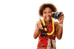 Turista do African-American Imagens de Stock Royalty Free