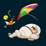 Turista do espaço na gravidade zero ilustração do vetor