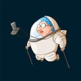 Turista do espaço na gravidade zero ilustração royalty free