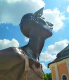 Turista do ferro, Kamenets-Podolsky, Ucr?nia imagem de stock royalty free