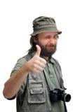 Turista do fotógrafo com câmera Imagem de Stock