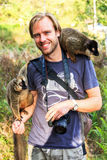 Turista do lêmure de Madagáscar Foto de Stock Royalty Free