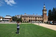 Turista - dogana di Newcastle Australia Immagini Stock