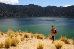 Turista em Equador Fotografia de Stock