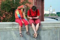 Turista em Moscovo imagem de stock