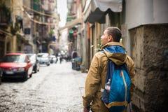 Turista em Nápoles Fotos de Stock