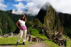 Turista em trekking no Peru imagem de stock royalty free